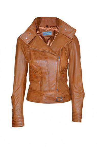 ladies brown leather jacket 2018