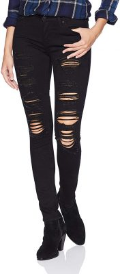 Outfits With Black Ripped Jeans